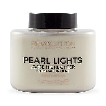 Maquiagem Revolução Pérola Lights Loose Highlighter-True Gold