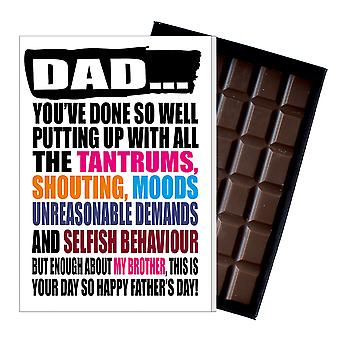 Funny Father's Day Gift From Daughter Chocolate Greeting Card For Dad DADIYF128