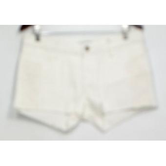 Blauwe shorts denim rits sluiting w/Lace & Fringe detail wit