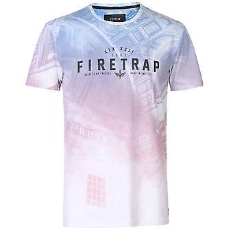 Firetrap Mens Suburb T Shirt Crew Neck Tee Top Short Sleeve Lightweight Print