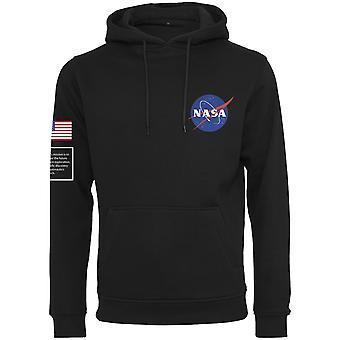 Mister tee hoody-bandeira da NASA insígnia preta