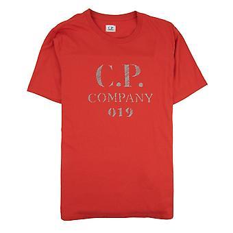 CP bedrijf reflecterende 019 logo tee rood 547