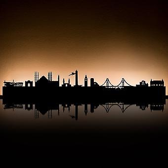 RADIUS lys Istanbul te lys indehaveren sort 80 x 18 x 5 - 711v1