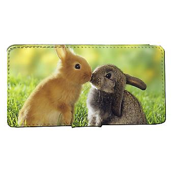 iPhone 7/8 wallet case: Rabbit Puss Shell case