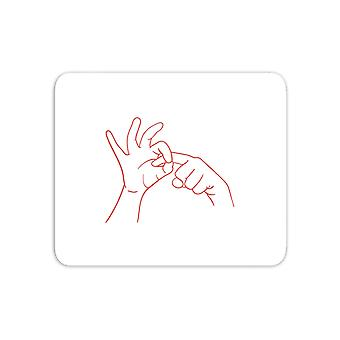 Sexy Hand Gesture Mouse Mat