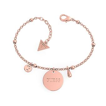 Guess Jewellery Chain Charm Rose Gold Bracelet UBB29119-L