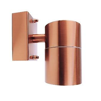 Outdoor wall lamp Zilly Down copper 115mm GU10