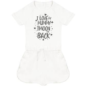 Ich liebe meine Mumie zum Mond und zurück Baby Playsuit