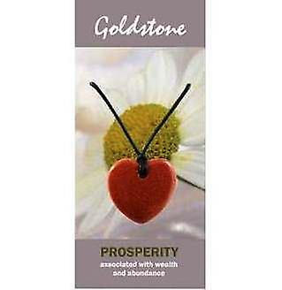 Goldstone Heart Necklace Natural Jewellery for Prosperity