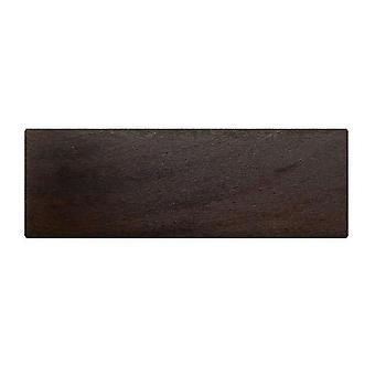 Rechthoekige donkerbruine houten meubelpoot 6 cm (1 stuk)