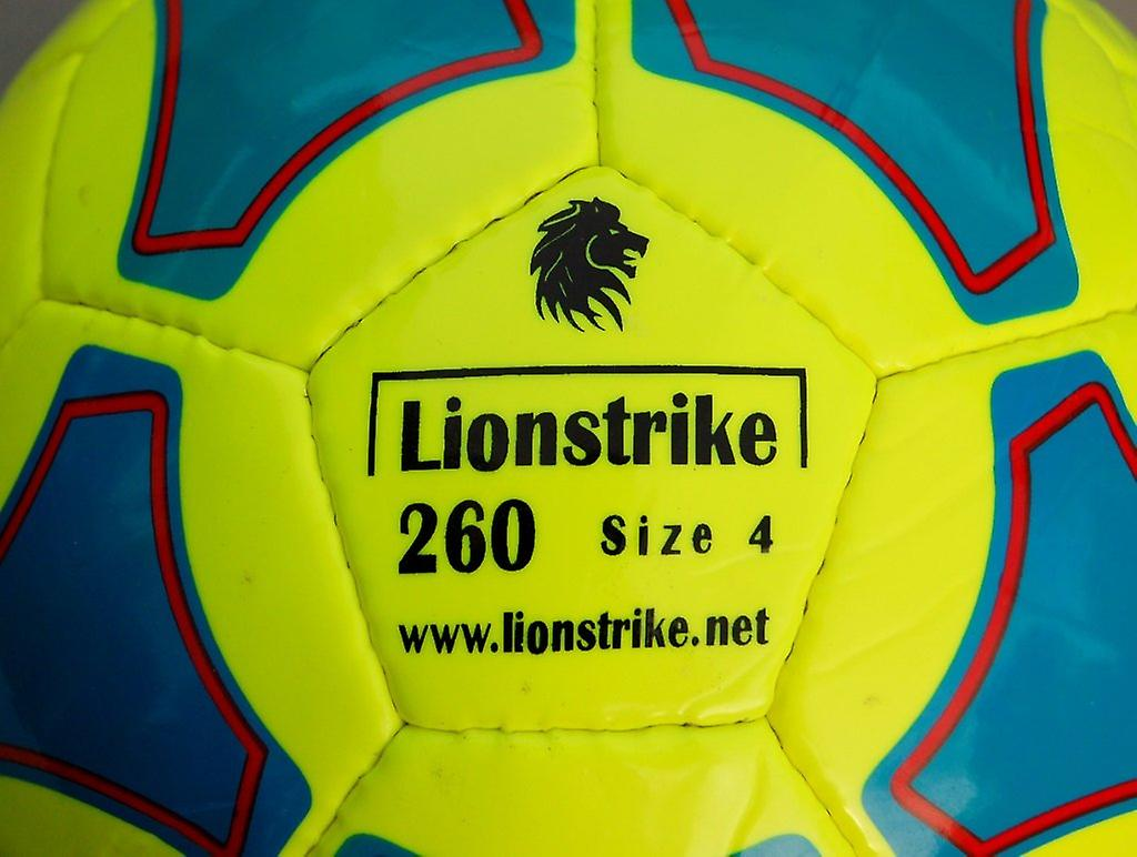 Lionstrike 260 leather football (size 4) - yellow