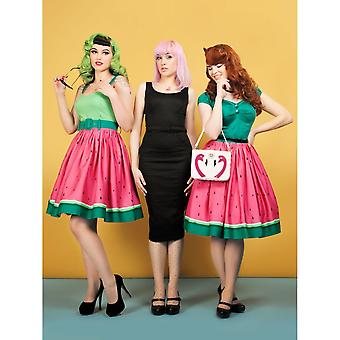 Collectif Vintage Women's Jade Watermelon Doll Swing Dress