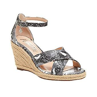 Nanette Lepore Womens Quirky Leather Peep Toe Casual Ankle Strap Sandals