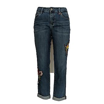Laurie Felt Women's Jeans Classic Denim Embellished Boyfriend Blue A343605