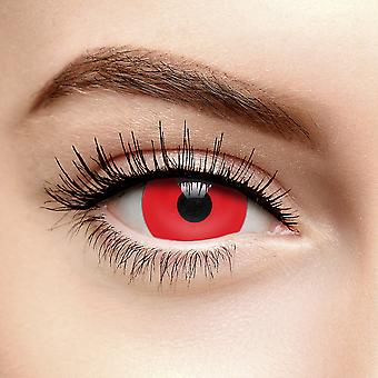Red Mini Sclera Halloween Colored Contact Lentilles (Quotidien)