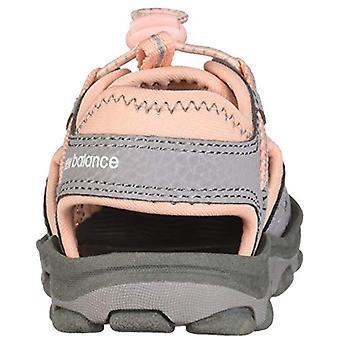 New Balance Unisex Kid's Adirondack Sandal Sport, Pink/Grey, G6 M US Big