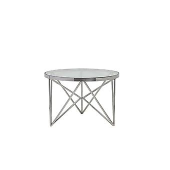 Light & Living Side Table 60x40cm Orebo Nickel With Glass