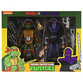 Teenage Mutant Ninja Turtles Raphael v Foot Soldier Fig 2Pk