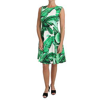 Rochie scurtă Dolce & Gabbana Banana Leaf A-Line