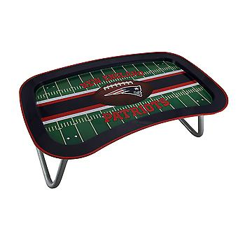 NFL New England Patriots Multi-function Metal Lap Tray w/Folding Legs 22 Inch