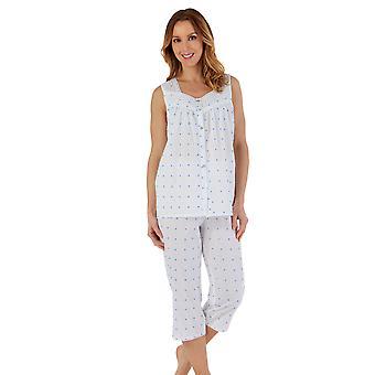 Slenderella PJ55233 Women's Spotty Cotton Pyjama Set
