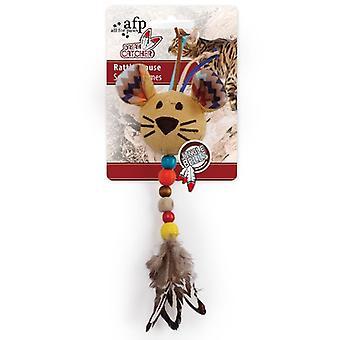 AFP ガラガラ Ratón 夢キャッチャー (猫、おもちゃ、ぬいぐるみ・羽のおもちゃ)