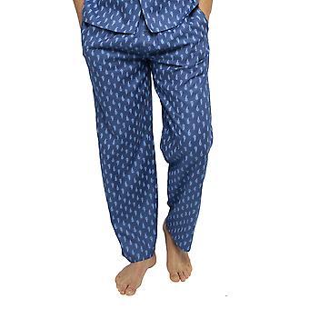 Cyberjammies 6454 Men's Billy Blue Paisley Print Cotton Woven Pyjama Pant