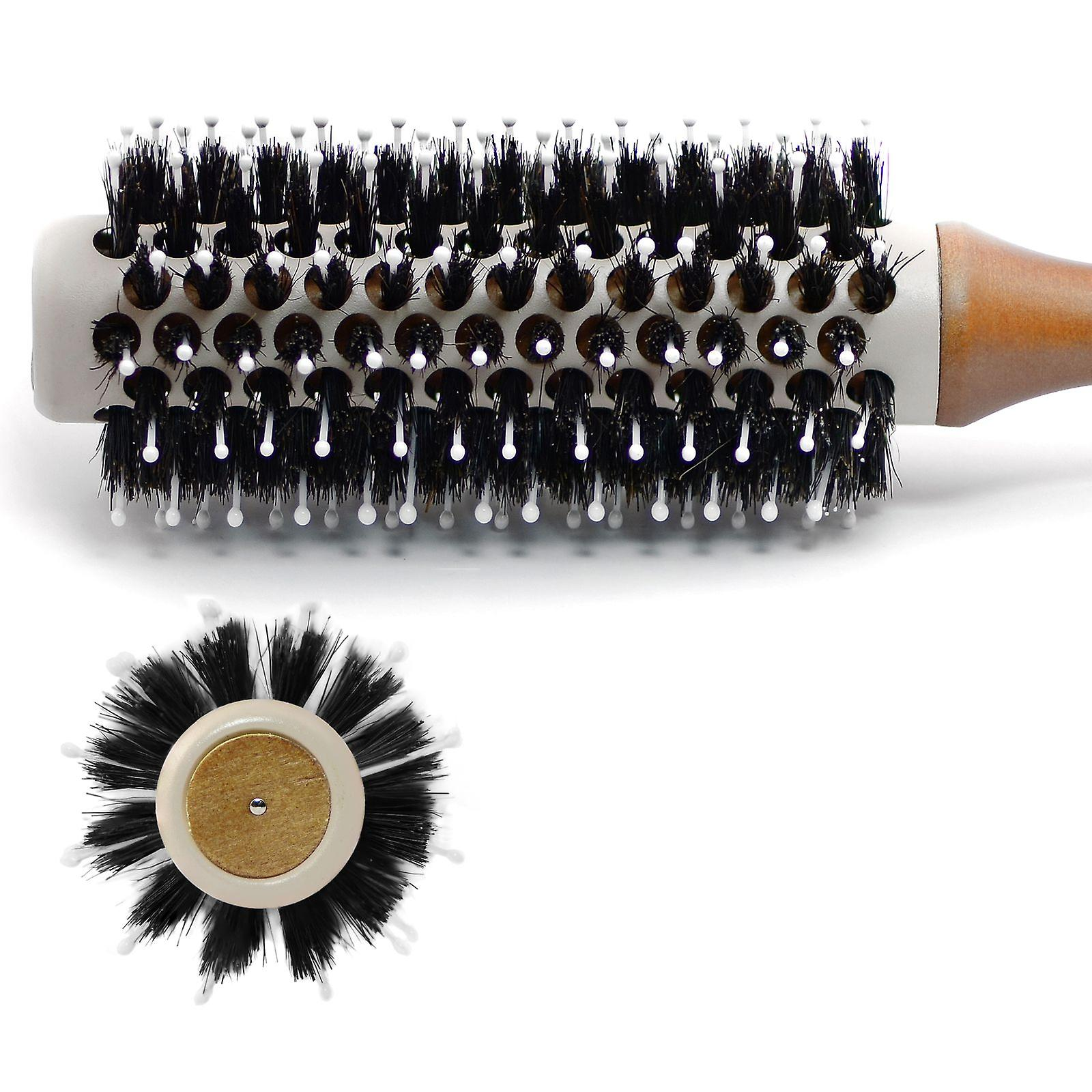 Radial ceramic hair brush with boar bristles 9360