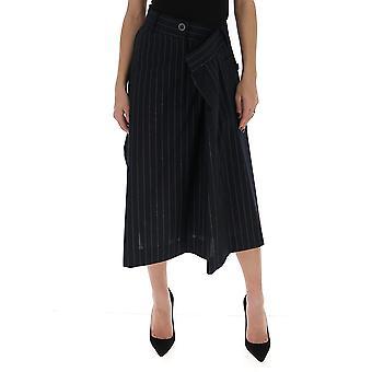 Sacai 2005015201 Women's Blue Cotton Skirt