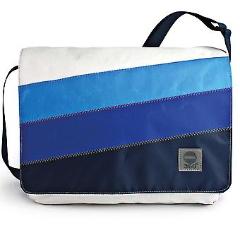 360 degree bag cash register laptop bag 15 inches, messenger bag with blue stripe and strap blue