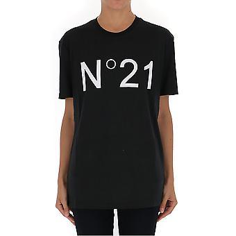 N°21 F04142039000 Women's Black Cotton T-shirt