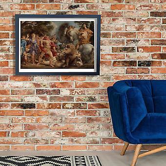 Peter Paul Rubens - Giclee druku plakat polowanie na dzika