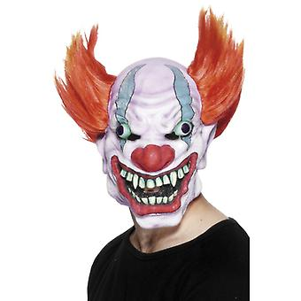 Clownmaske mit Haaren Joker Horror Clown Clownsmaske