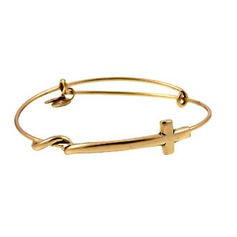 Bangle de oro de la Cruz de Alex y Ani A10EB066RG
