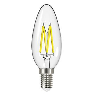 Energizer 4W E14 Candle Filament LED Bulb SES Energy Saver Warm White 470LM