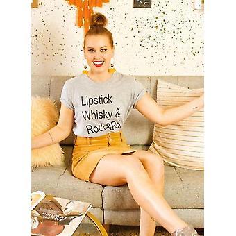 Lipstick, whiskey & rock n roll graphic tshirt