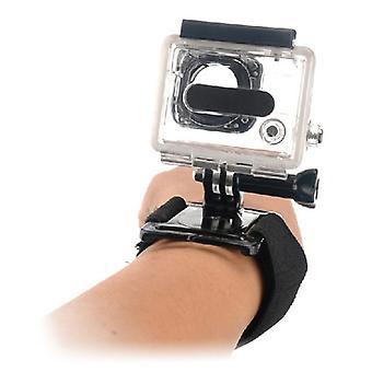 Imbracatura da polso per fotocamera sportiva KSIX Black