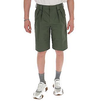 Jacquemus 205pa0720502570 Men's Green Polyester Shorts