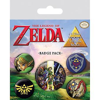 Zelda Ocarina of Time Pin Button Badges Set