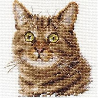 Kit Alisa Cross Stitch - Gato Europeu