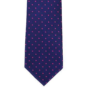 Michelsons Londyn miejscu tradycyjne jedwabne Tie - Royal Blue/Pink