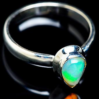 Natural Ethiopian Opal Ring Size 10 (925 Sterling Silver)  - Handmade Boho Vintage Jewelry RING5114