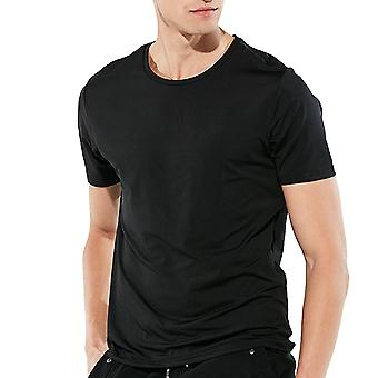 Allthemen Men's Round Neck Casual Waterproof Short-Sleeved T-Shirt