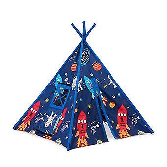 Ready Steady Bed Enfants-apos;s Space Boy Print Indoor Garden Playroom Play Tent Teepee Wigwam