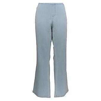 Denim & Co. Women's Plus Jeans Smooth Waist Lightly Boot-Cut Blue A309729