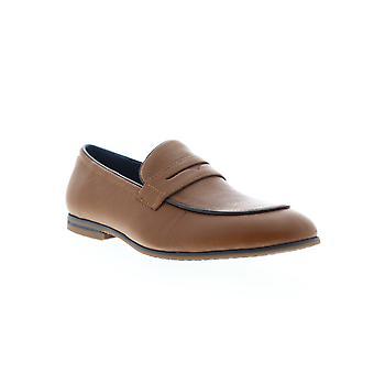 Zanzara Jojo  Mens Brown Leather Dress Slip On Loafers Shoes