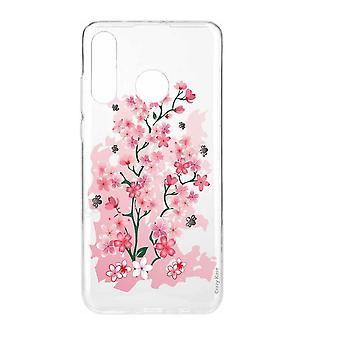 Rumpf für Huawei P30 Lite weiche skirschrote Blüten