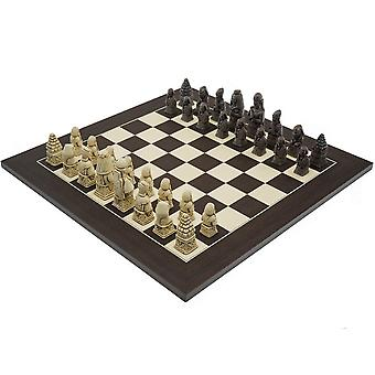 The Berkeley Chess Egyptian Russet and Wenge Chess Set