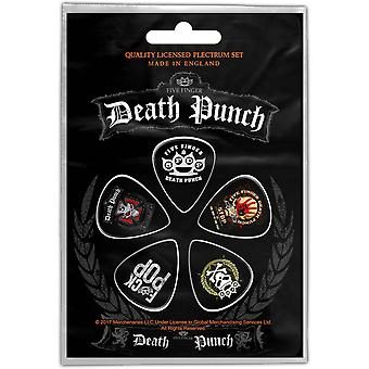 Five Finger Death Punch Guitar Pick Plectrum Pack X 5 Band Logo new Official