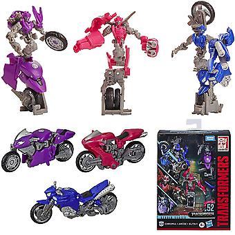 3-Pack Transformers Deluxe Class Studio Series 52 Arcee Chromia Elita-1 Chiffres